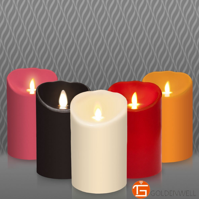 Luminara Flameless Multi-color Artificial Candle 3.5inch x 5/7/9inch