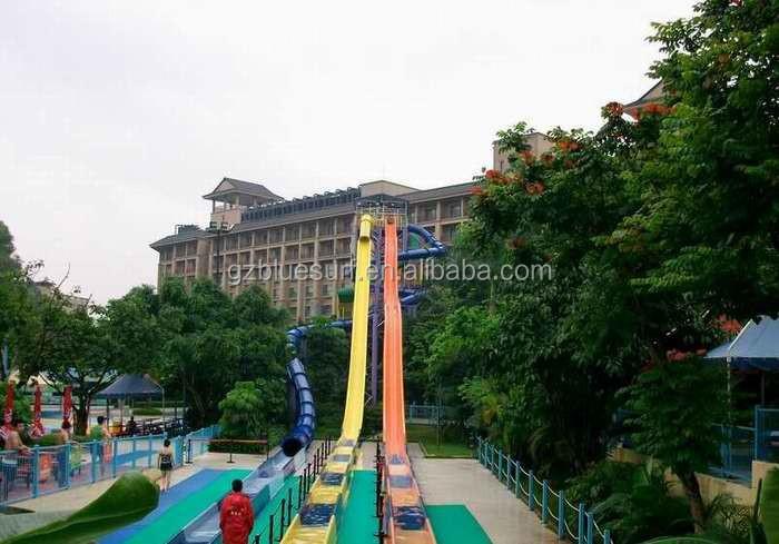 High Speed Fiberglass Water Slide For Water Park Equipment