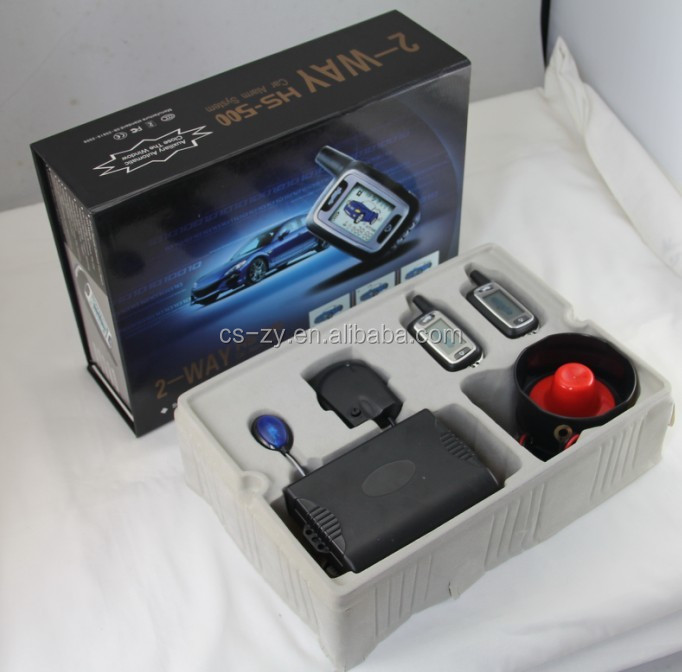 Newly Design 2-way Car Alarm System With Lcd Anti-theft