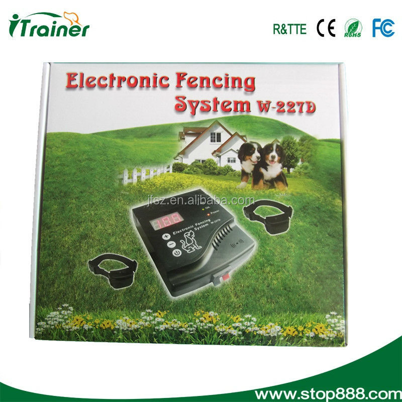 smart dog in ground pet fencing system W227D,dog guard fence