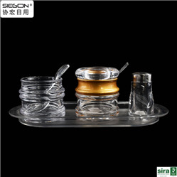 acrylic high clear seasoning container ,hold seasoning container, hold condiment container