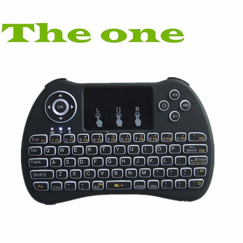 New design Multi Touch Pad 2.4g Wireless H9backlit Mini Usb Keyboard 2.4g Wireless Fly mouse