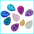 Teardrop AB Rhinestone , 18*25 mm Pear Shape Flatback Gemstone ,Nacklace DIY Pendent