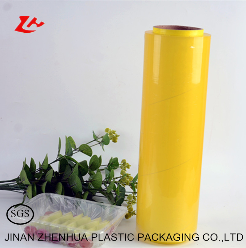 pvc Material and Stretch Film Type wrap plastic cling film jumbo <strong>roll</strong>