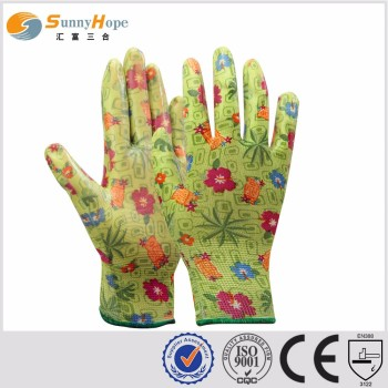 SunnyHope custom made nitrile coated garden gloves for women