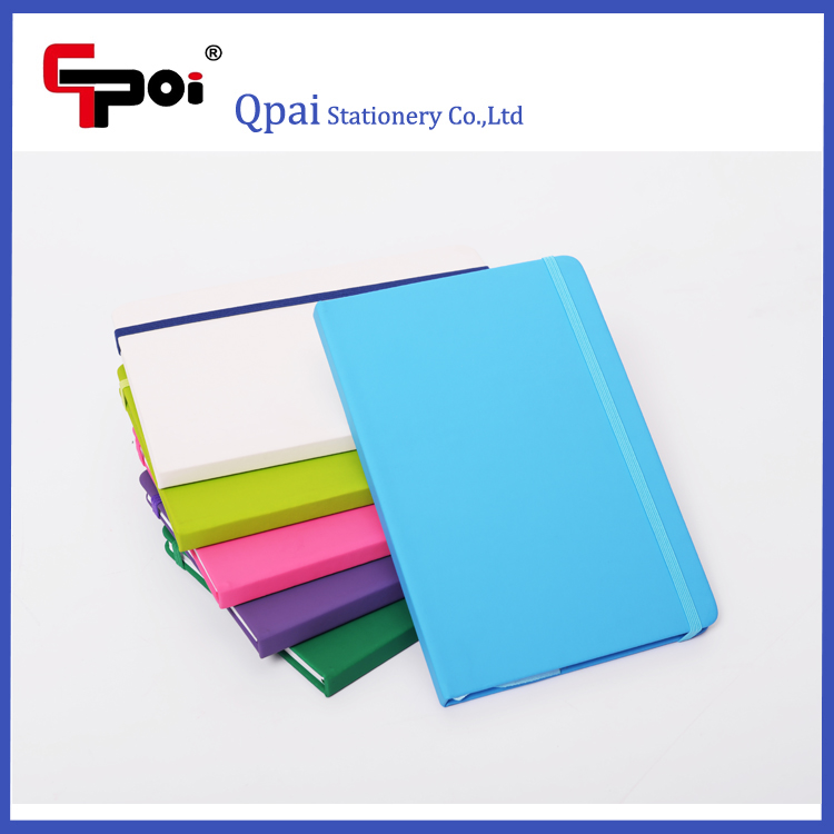 Office and School Stationery Logo Design Hard Cover Note books With Elastic Candy Color Notepad Notebooks