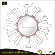 Cheap indoor wall art antique gold framed round mirror