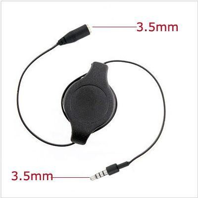 3 ft Retractable 3.5mm Audio extention AUX Cable for APPLE iPhone 5 / 5s / 5c / 6 / 6 Plus / iPod 7 / iPad Mini / Retina