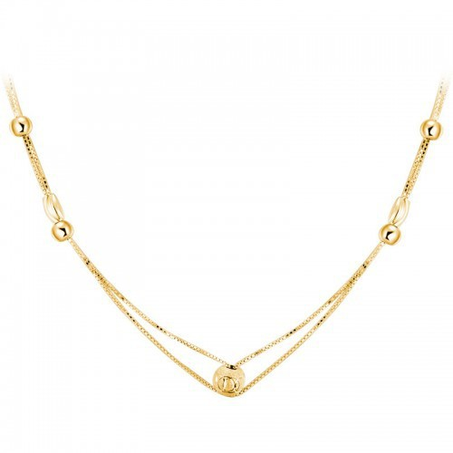 simple style thin chain 925 silver 24k gold plated necklace