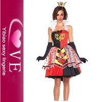 Halloween Carnival Wonderland Halter Adult Costume Queen of hearts Alice Costume Halloween Costume