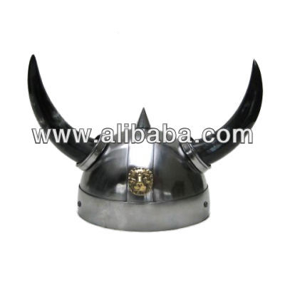 Viking Horn Helmet with real horns