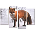 "Fox Picture HD Canvas Art Prints Snow Scenery Home Wall Decoration(12""x24""x2 12""x32""x2) Wholesale Ready to Hang"