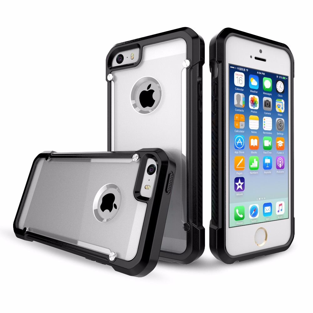 New Design Shockproof Transparent Phone case for iPhone 5S