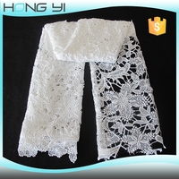 2016 guangzhou african bridal white polyester lace embroidery fabric