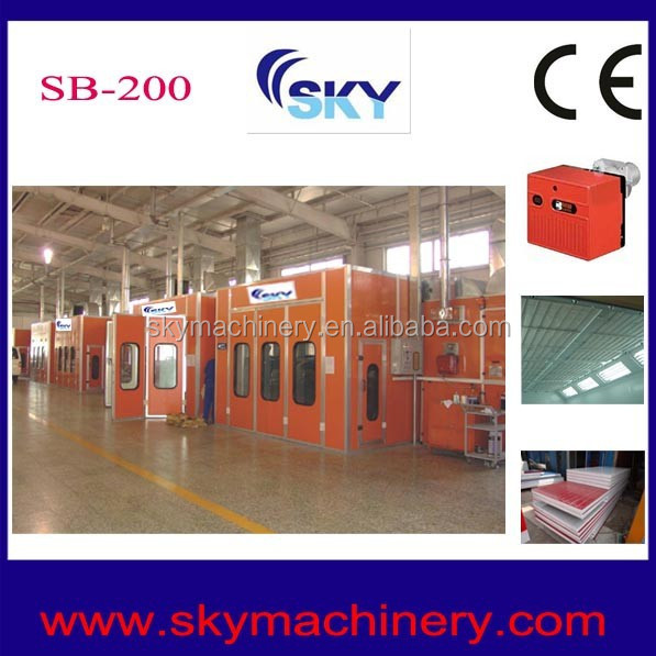 2015 china supplier mobile cabin/spray booth lights/car paint mixing machine