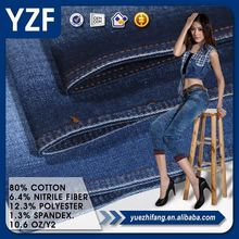 High quailty cotton polyester spandex viscose cheap denim fabric for the jean material