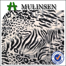 Zebra Design Printed Polyester Spandex Scuba Fabric for Dress in Stock