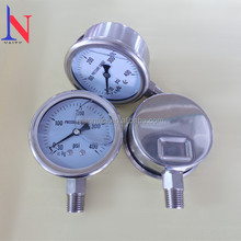 "2.5"" 63mm stainless steel oil compound pressure gauge"
