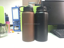 Carabiner decorated eco-friendly double wall stainless steel water bottle/aluminum water bottle