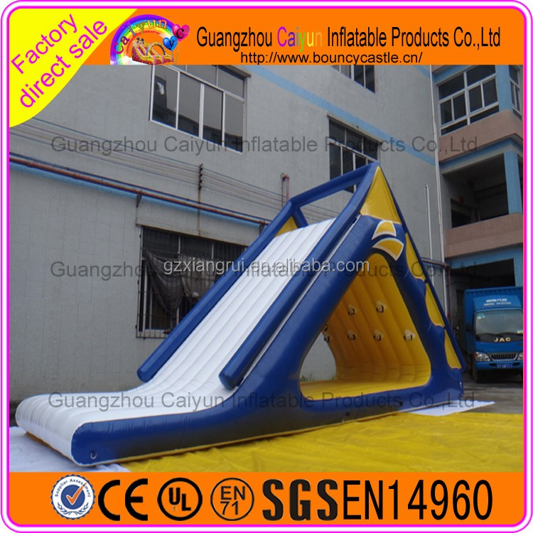 Custom Inflatable Water Park slide used giant water floating slide games toys