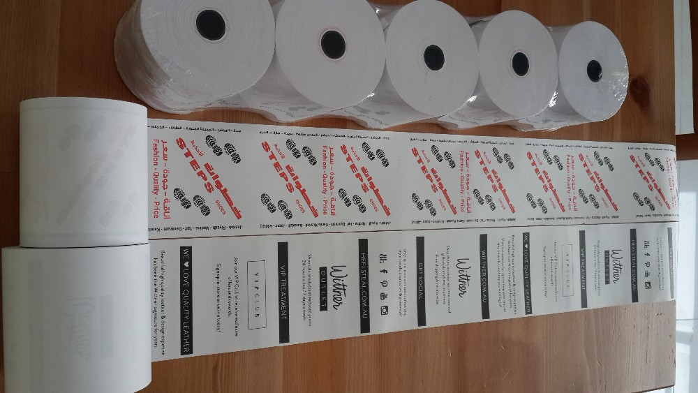 BPA free 57mm pos terminal thermal paper roll