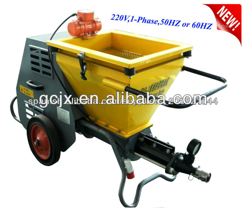 Mortar, gypsum, fireproofing auto plastering machine for wall