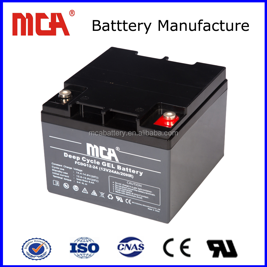 12V24AH deep cycle battery philippines dry cell battery in pakistan top-gel mca