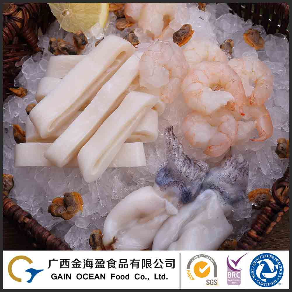 IQF Frozen China Fish Fresh Mix Seafood Include Baby Octopus And Shrimp