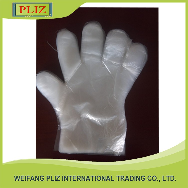 Popular transparent plastic gloves disposable plastic gloves