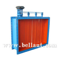 Electric volume control damper, modulating valve for cement industry