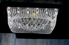 Modern stain steel led crystal ceiling lamp3304-22