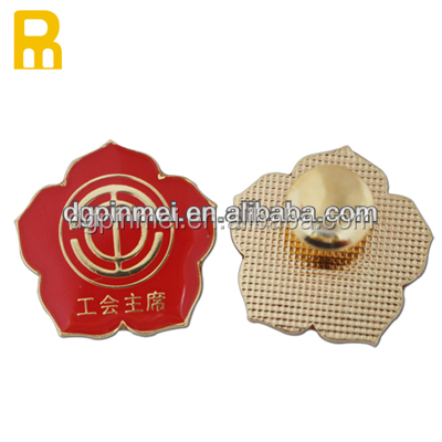 Cheap price custom flower shape soft enamel lapel pin