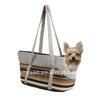 pet products/durable micro-fiber stripe fabic Pet carry Bag(YF72090)