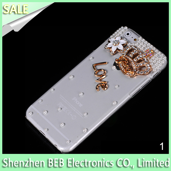 Diamond bling design cover case for iphone case cover has low cost