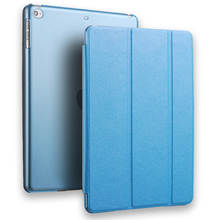 Good quality factory promotion stand leather protector case for ipad air