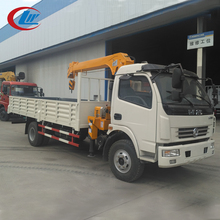 DONGFENG 4*2 5ton capacity small truck light duty crane with cargo body