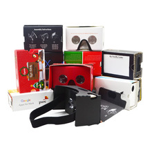 2018 promotional gift custom logo google cardboard Portable and Foldable VR Glasses
