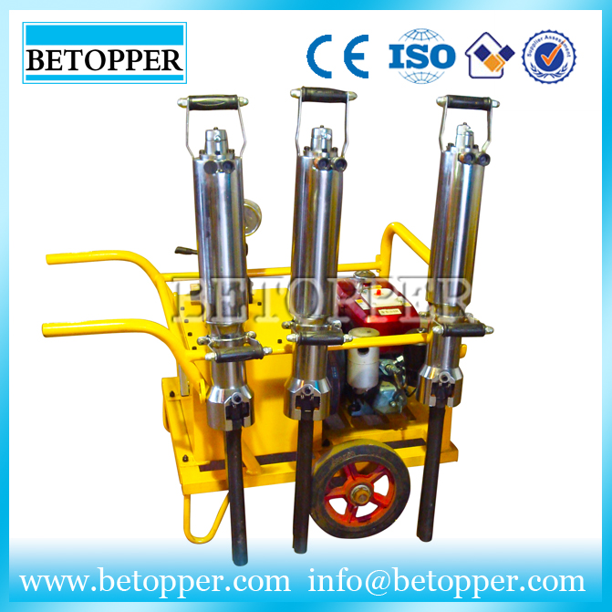 quarry used hydraulic stone splitter