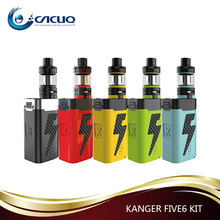 Good sale 222W 8ml Kanger FIVE 6 Kit , wholesale Kangertech FIVE 6 with 5pcs 18650