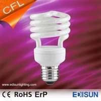 grow light Energy Saving lamp CFL bulb T2 Half Spiral 15W E27 grow light Energy Saving lamp
