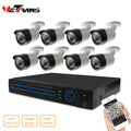 8 Channel CCTV Camera System 720P Waterproof Bullet Camera kit