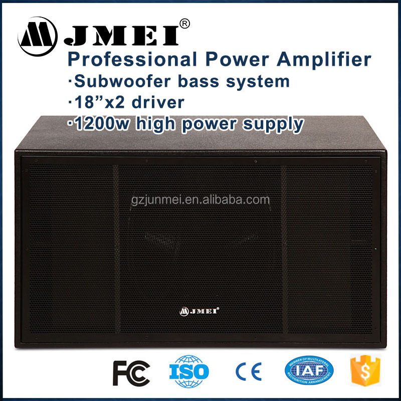 Sound Woofer System Big Factory Dj Heavy Stage Super Woofer Sub Outdoor Double 18 inch Bass Box Professional Speaker