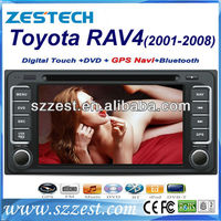 Zestech wholesale! HD in dash car dvd gps for Toyota RAV4 1996-2005 GPS Navigation Radio 3G Phonebook iPod mp4 mp5 TV