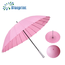 Unique 24 ribs lady love stick customize windproof umbrella