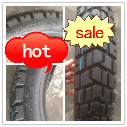 tubeless motorcycle tire 100/90-17 with off-road pattern