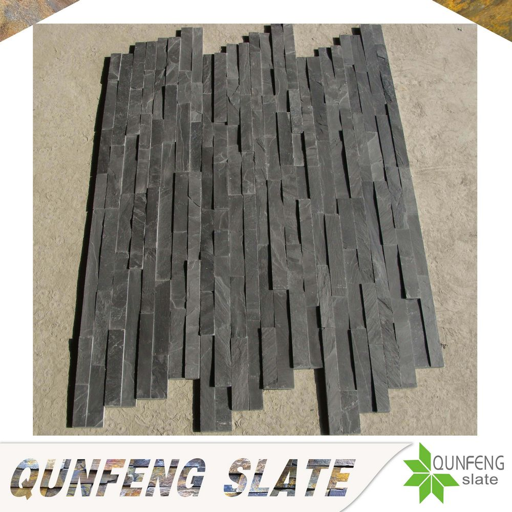 black slate natural stone wall cladding Z brick veneer walls