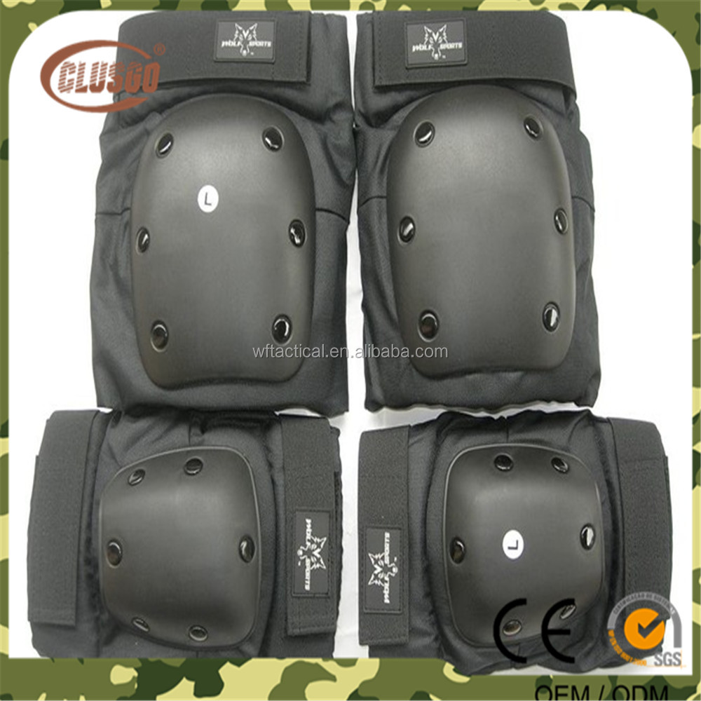 Professional factory price black Knee Pads & Elbow Pads hiking climbing protective knee pads
