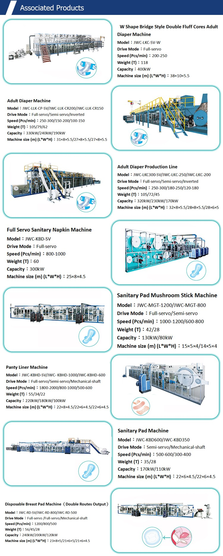 China Supply Sanitary Napkin Making Machine Paper Machine
