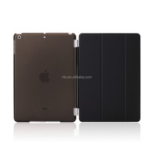 Full Protector Leather Hard Smart Cover and Rubberized Back Case for iPad Pro 9.7 Case, Detachable, Black