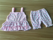 Organic Cotton Baby Rompers Wholesale Pink Bubble Romper Baby Girl Boutique Clothing